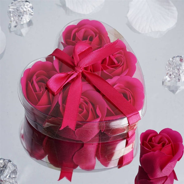 Heart Rose Soap Petals-Fushia