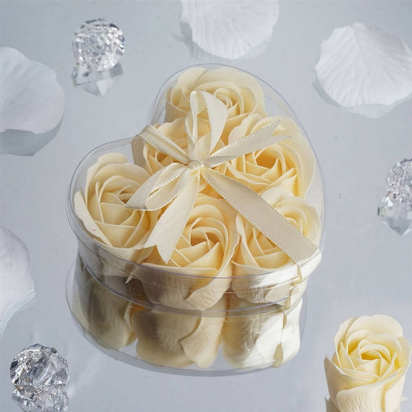 Heart Rose Soap Petals-Ivory