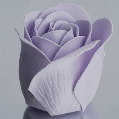 Lavender Heart Rose Flower Petal Soap Favor Wedding Decoration Party Gift - Pack of 6