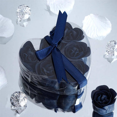 Heart Rose Soap Petals-Navy Blue