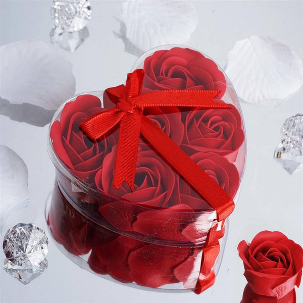 Heart Rose Soap Petals-Red