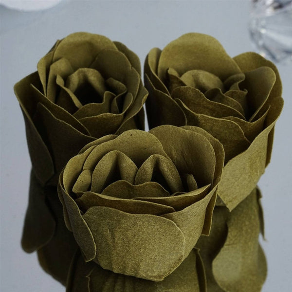 Willow Heart Rose Flower Petal Soap Favor Wedding Decoration Party Gift - Pack of 6