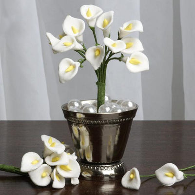 72 Eco Friendly Handmade White Calla Lily Flowers For DIY Home Decor Craft Supplies