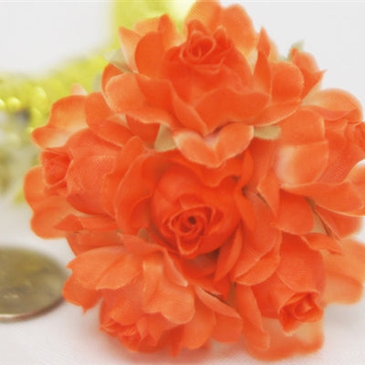72 ITS A BEAUTIFUL LIFE Semi-Bloomed Craft Roses - Orange