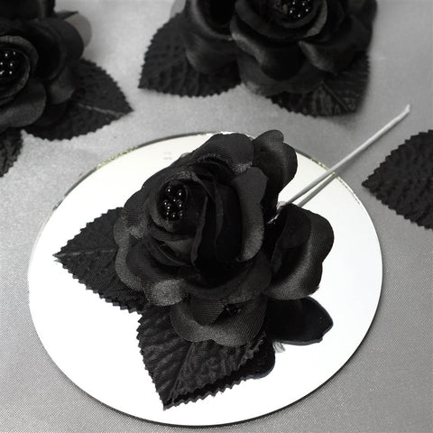 12 ACCENT Bellissimo Craft Roses - Black
