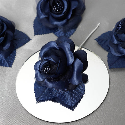 12 ACCENT Bellissimo Craft Roses - Navy( Sold Out )