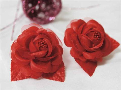 12 ACCENT Bellissimo Craft Roses - Red