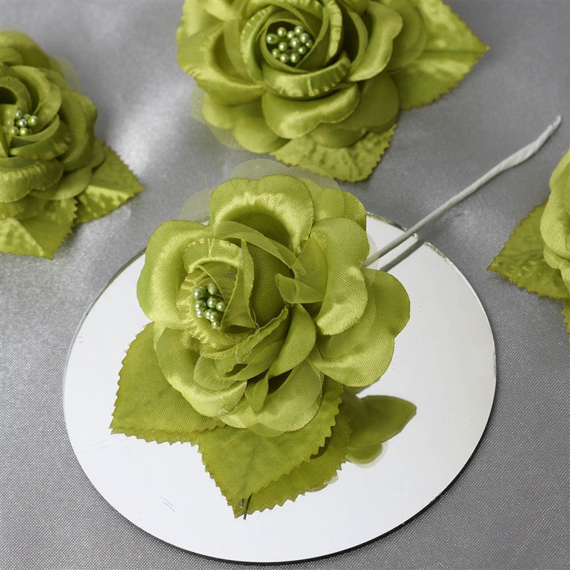 Sage Holidays: 12 ACCENT Bellissimo Craft Roses - Sage