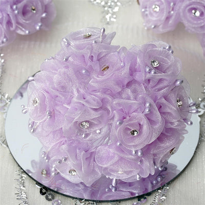 72 EXTRA SPOTLIGHTS Rhinestone & Roses for Craft - Lavender