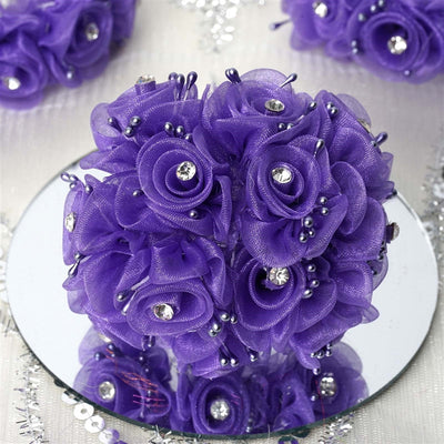 72 EXTRA SPOTLIGHTS Rhinestone & Roses for Craft - Purple