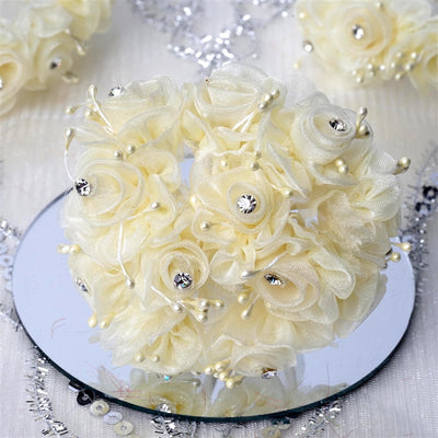 72 EXTRA SPOTLIGHTS Rhinestone & Roses for Craft - Yellow