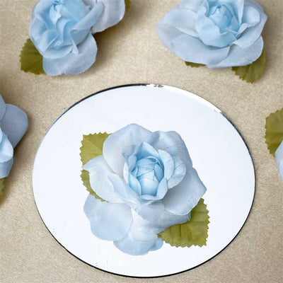 EXTRA TOUCH Craft Roses - 12/pk Light Blue