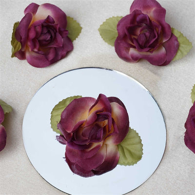 EXTRA TOUCH Craft Roses - 12/pk Eggplant