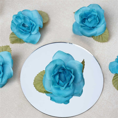 EXTRA TOUCH Craft Roses - 12/pk Turquoise