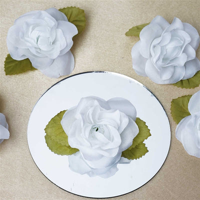 EXTRA TOUCH Craft Roses - 12/pk White