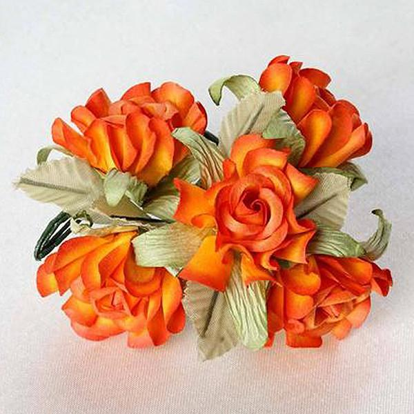 60 orange mini paper rose flowers corsage and boutonniere wedding 60 orange mini paper rose flowers corsage and boutonniere wedding home craft decor silk flowers factory mightylinksfo