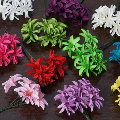 72 Poly Eggplant Hybrid Paper Craft Lily Flowers Corsage and Boutonniere Wedding Home Craft Decor