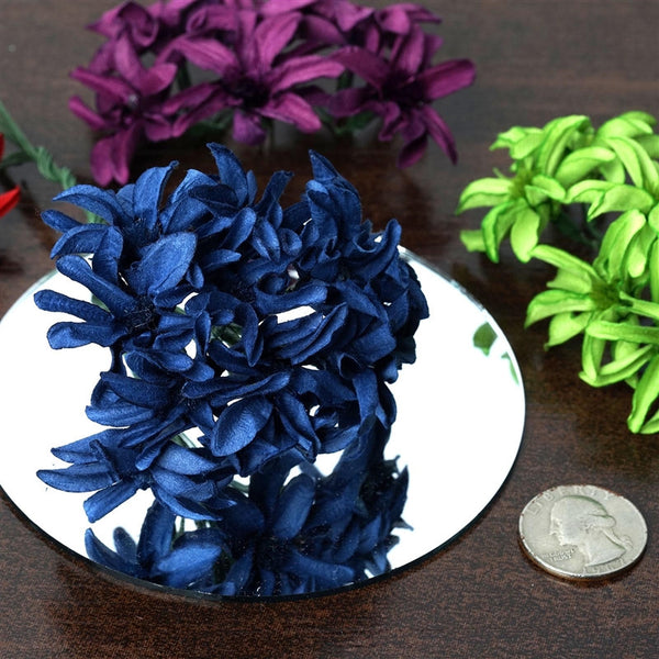 72 Poly Navy Hybrid Paper Craft Lily Flowers Corsage and Boutonniere Wedding Home Craft Decor