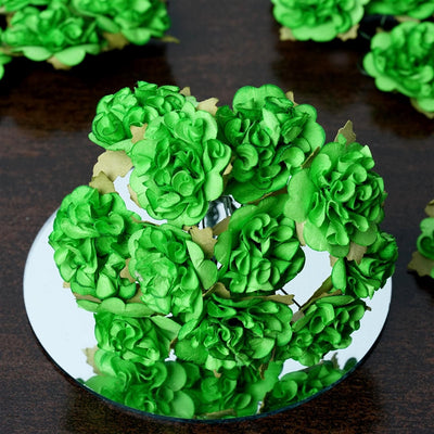 EXTRA TOUCH Craft Carnations-Apple Green.72/pk