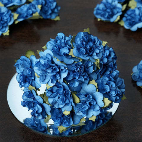 EXTRA TOUCH Craft Carnations-New Blue.72/pk