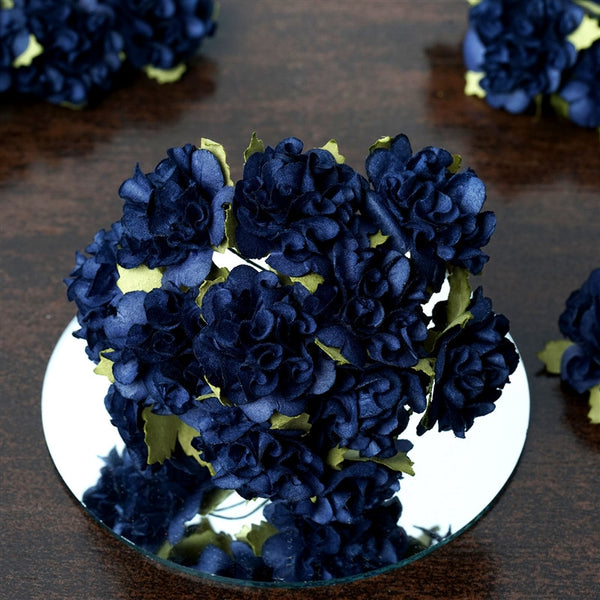 EXTRA TOUCH Craft Carnations-Navy.72/pk