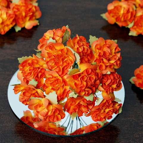 EXTRA TOUCH Craft Carnations-Orange.72/pk