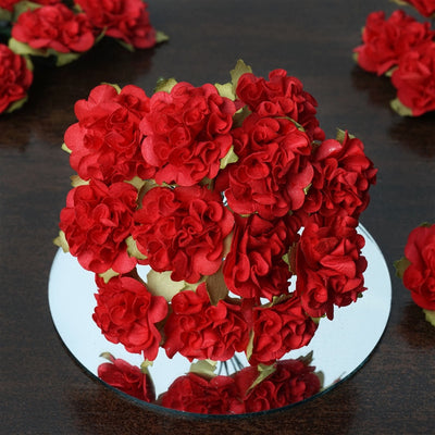EXTRA TOUCH Craft Carnations-Red.72/pk