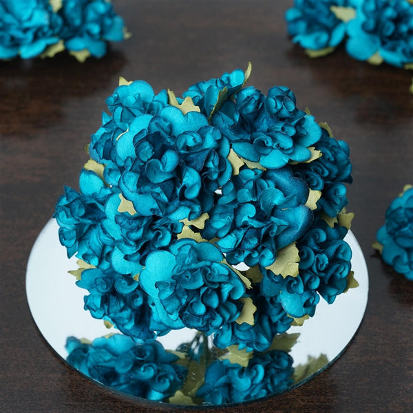 EXTRA TOUCH Craft Carnations-Turquoise.72/pk