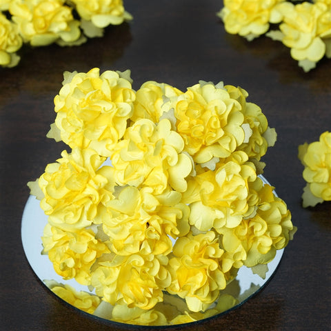 EXTRA TOUCH Craft Carnations-Yellow.72/pk
