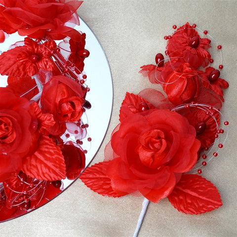 Headpiece-Red-12/pk