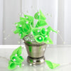 72 Poly Apple Green Calla Lily Bead Flowers With Pearl Spray For Wedding Home Craft Decor