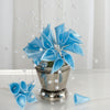 72 Poly Light Blue Calla Lily Bead Flowers With Pearl Spray For Wedding Home Craft Decor