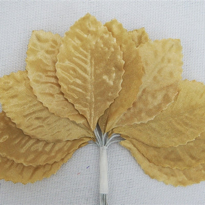 144 Champagne Satin Corsage and Boutonniere Wired Craft Leafs DIY Wedding Projects