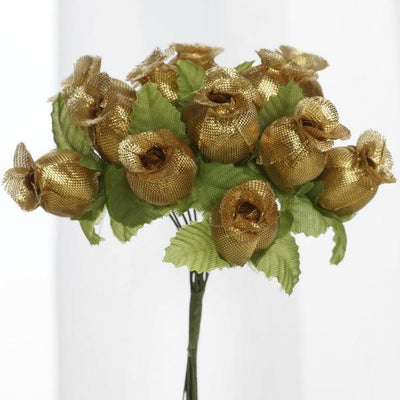 Rose bud gold 144pk silk flowers factory 144 artificial 34 gold poly rose buds diy wedding bouquet flowers craft decoration mightylinksfo