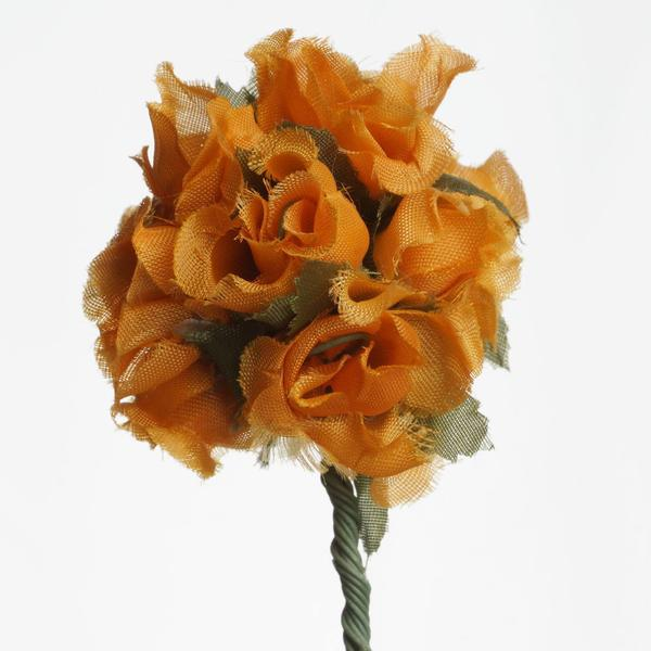 "144 Artificial 3/4"" Orange Poly Rose Buds DIY Wedding Bouquet Flowers Craft Decoration"