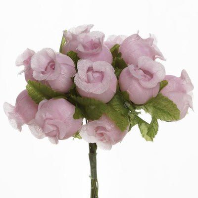 "144 Artificial 3/4"" Pink Poly Rose Buds DIY Wedding Bouquet Flowers Craft Decoration"