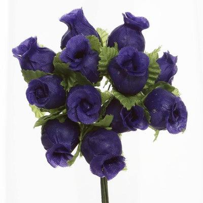 "144 Artificial 3/4"" Purple Poly Rose Buds DIY Wedding Bouquet Flowers Craft Decoration"