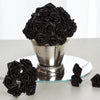 144 Artificial Black Satin Rose Bud DIY Craft Flower Applique Brooch