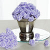 144 Artificial Lavender Satin Rose Bud DIY Craft Flower Applique Brooch