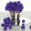 144 Artificial Purple Satin Rose Bud DIY Craft Flower Applique Brooch