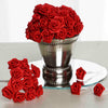 144 Artificial Red Satin Rose Bud DIY Craft Flower Applique Brooch