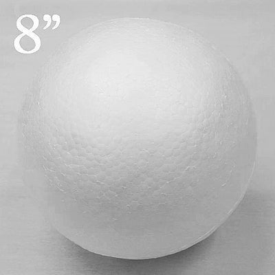 "8"" Wholesale White Styrofoam Filler Foam Beads Balls DIY Crafts Decoration - 4pcs"