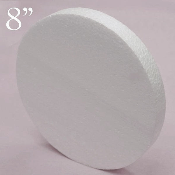 "8"" Wholesale White Styrofoam Foam Disc DIY Crafts Decoration - 12pcs"
