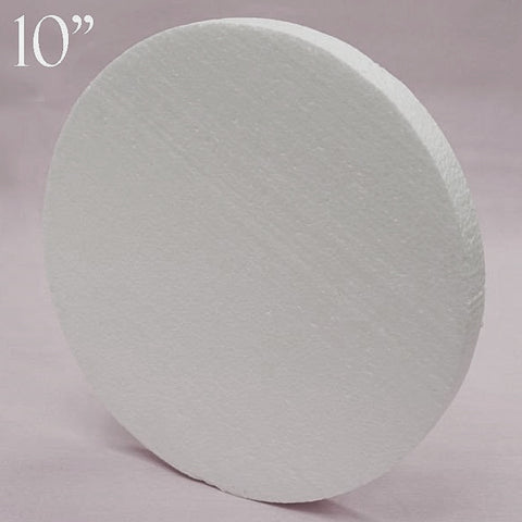 "10"" Wholesale White Styrofoam Foam Disc DIY Crafts Decoration - 12pcs"