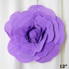 "12"" Large Real Touch Lavender Artificial Foam Paper Craft Rose DIY 3D Artificial Flowers For Wedding Room Wall Decoration - 4 PCS"