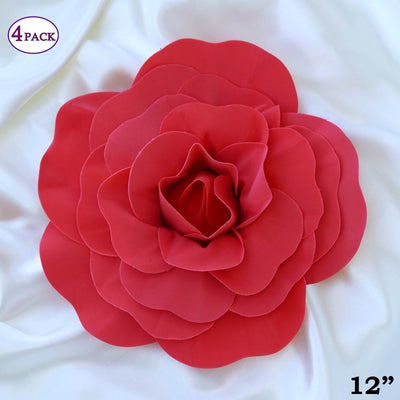 12 large real touch red artificial foam paper craft rose diy 3d 12 large real touch red artificial foam paper craft rose diy 3d artificial flowers for mightylinksfo
