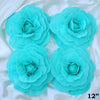 "12"" Large Foam Rose Backdrop Wall Decor - Turquoise - 4 pcs"