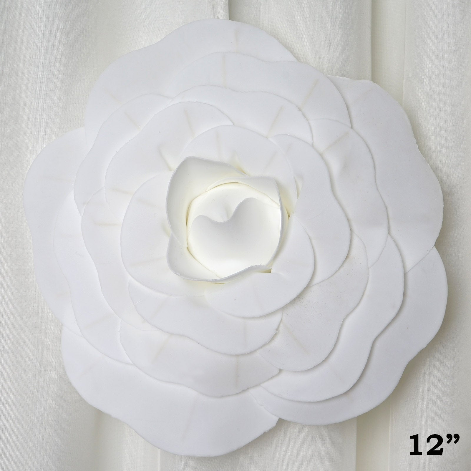 12 large real touch white artificial foam paper craft rose diy 3d 12 large real touch white artificial foam paper craft rose diy 3d artificial flowers for wedding room wall decoration 4 pcs mightylinksfo