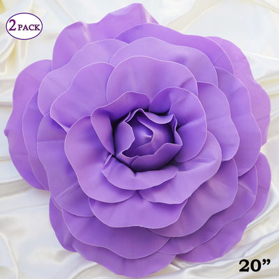 20 giant real touch lavender artificial foam paper craft rose diy 20 giant real touch lavender artificial foam paper craft rose diy 3d artificial flowers for mightylinksfo