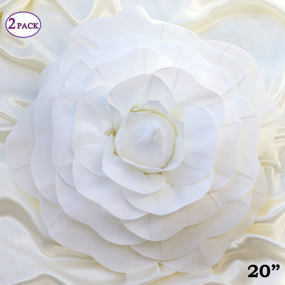 20 giant real touch white artificial foam paper craft rose diy 3d 20 giant real touch white artificial foam paper craft rose diy 3d artificial flowers for mightylinksfo